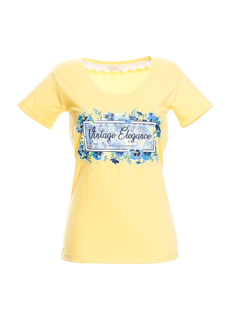 T-shirt aderente con stampa