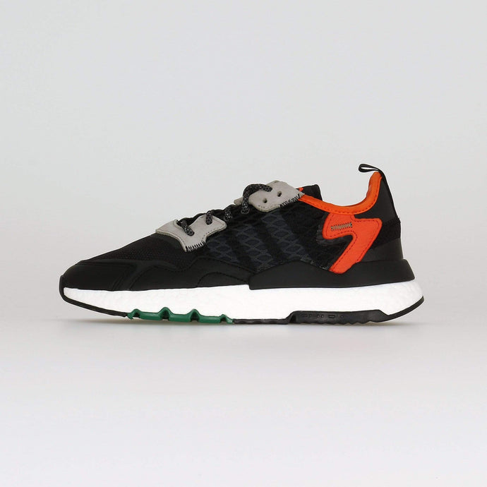 Adidas Nite Jogger - Black / Grey Six / Orange UK 7 EE55497 4061624531611 Adidas Originals Trainers