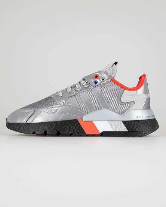 Adidas Originals Nite Jogger - Metallic Silver / Core Black UK 7 FV37877 4062056489709 Adidas Originals Trainers