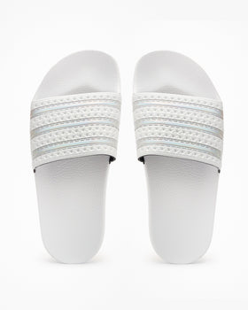 Adidas Originals Womens Adilette - Crystal White / Cloud White Adidas Originals Flip Flops & Sliders