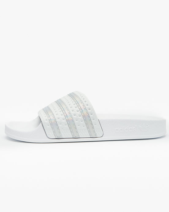 Adidas Originals Womens Adilette - Crystal White / Cloud White UK 4 FV00414 4060517521333 Adidas Originals Flip Flops & Sliders