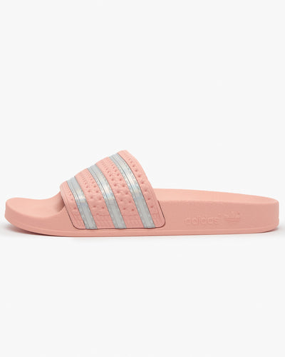 Adidas Originals Womens Adilette - Haze Coral / Cloud White UK 4 FW22904 4060517521449 Adidas Originals Flip Flops & Sliders