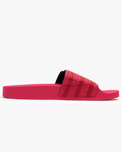 Adidas Originals Womens Adilette Slides - Power Pink / Scarlet Adidas Originals Flip Flops & Sliders