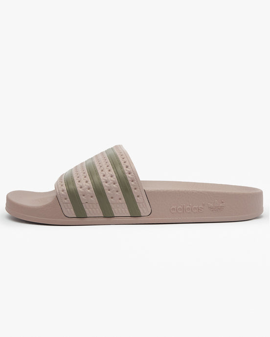 Adidas Originals Womens Adilette - Vapour Grey / Clay UK 4 FV00404 4060517525232 Adidas Originals Flip Flops & Sliders