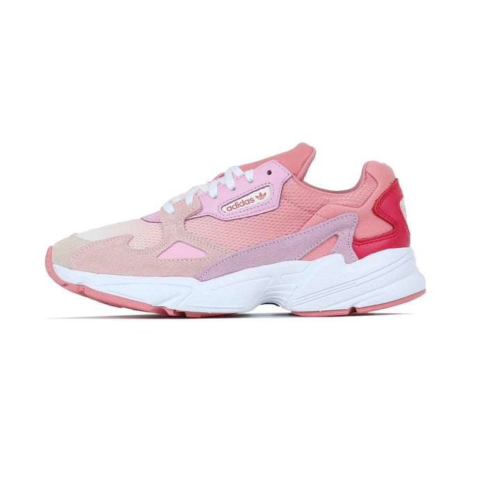 Adidas Originals Womens Falcon - Ecru Tint / Icey Pink UK 4 EF19644 4061622463877 Adidas Originals Trainers