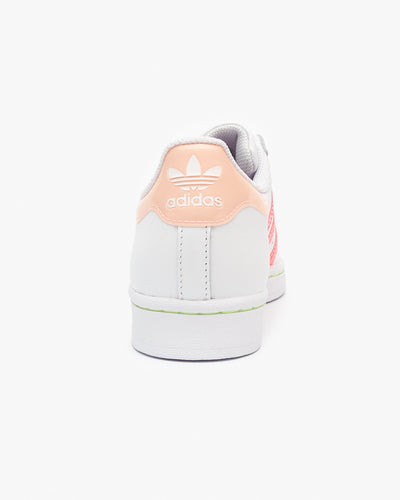 Adidas Originals Womens Superstar - Cloud White / Signal Pink Adidas Originals Trainers