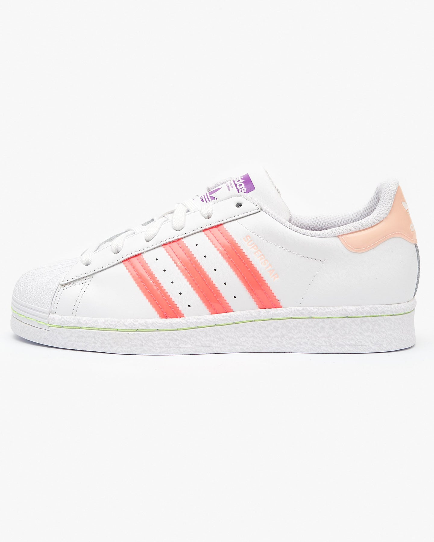 Adidas Originals Womens Superstar - Cloud White / Signal Pink UK 4 FW25024 4060517867363 Adidas Originals Trainers