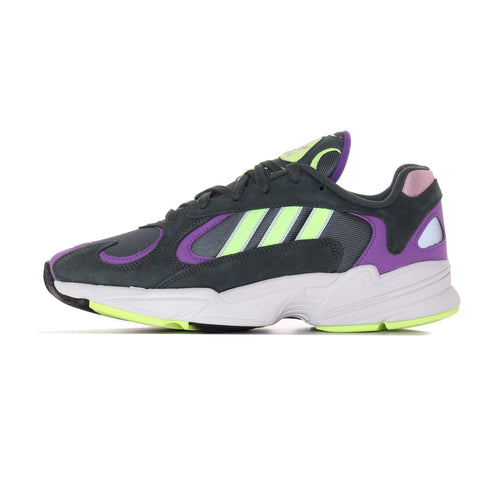 Adidas Originals Yung-1 - Legend Ivy / Hi-Res Yellow / Active Purple UK 7 BD76557 4060514089799 Adidas Originals Trainers