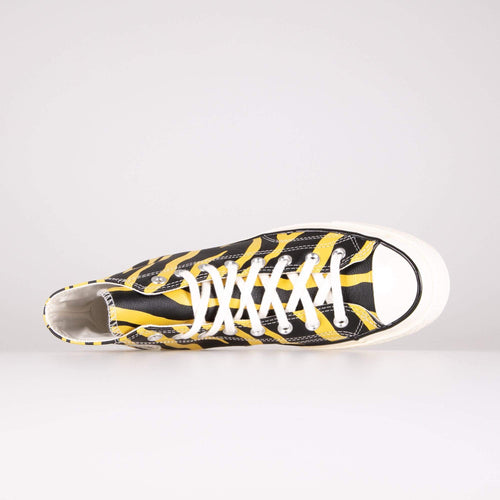 Converse Chuck 70 Hi Leather Archive Print - Vivid Sulfur / Black Converse Trainers