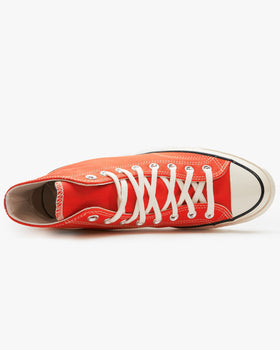 Converse Chuck 70 High Vintage Canvas - Enamel Red / Egret / Black Converse Trainers
