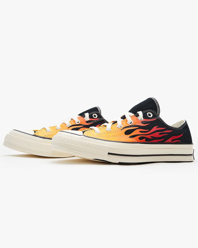 Converse Chuck 70 Low Archive Print - Black / Enamel Red / Egret Converse Trainers