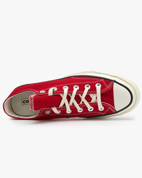 Converse Chuck 70 Low Vintage Canvas - Enamel Red / Egret Converse Trainers