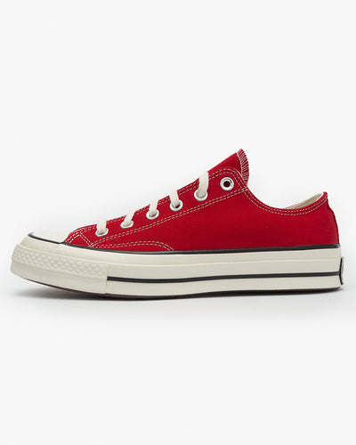 Converse Chuck 70 Low Vintage Canvas - Enamel Red / Egret UK 7 164949C7 888757075812 Converse Trainers