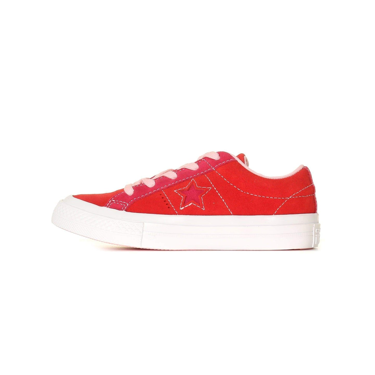 Converse Kids One Star Carnival Suede - Enamel Red / Pink Pop C11 361806CC11 888755884881 Converse Trainers