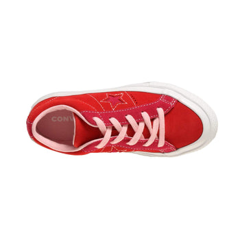 Converse Kids One Star Carnival Suede - Enamel Red / Pink Pop Converse Trainers