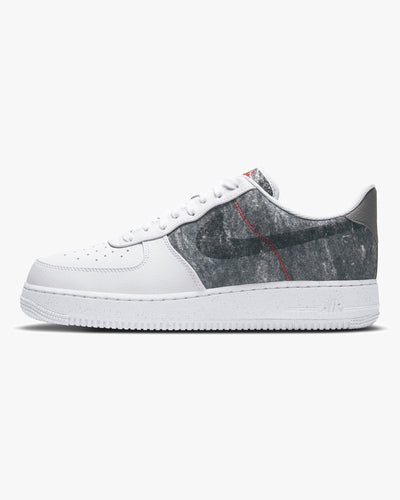 Nike Air Force 1 '07 LV8 'Recycled Wool' - White / Clear / Light Smoke Grey UK 7 CV1698-1007 Nike Trainers