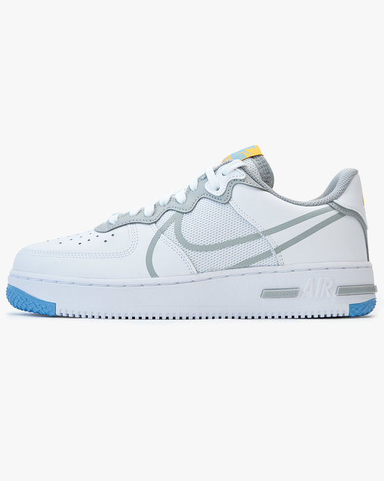 Nike Air Force 1 React - White / University Blue / Light Smoke Grey UK 6 CT10201006 Nike Trainers