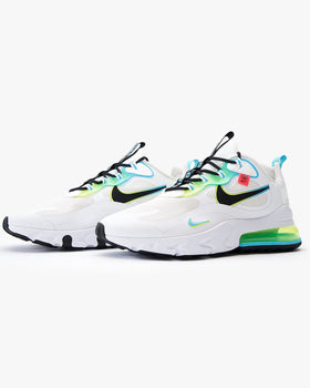 Nike Air Max 270 React SE 'Worldwide Pack' - White / Blue Fury / Volt / Black Nike Trainers
