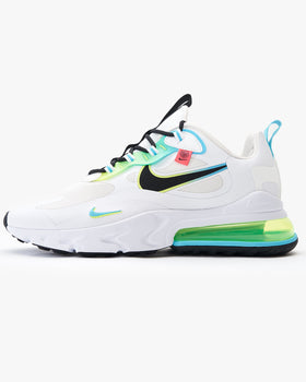 Nike Air Max 270 React SE 'Worldwide Pack' - White / Blue Fury / Volt / Black UK 7 CK64571007 194493821775 Nike Trainers