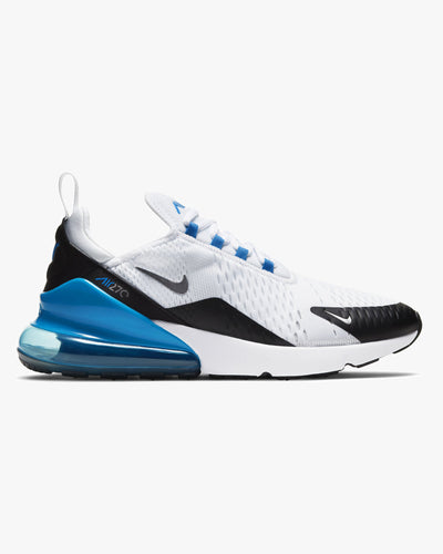 Nike Air Max 270 - White / Light Photo Blue / Black Nike Trainers