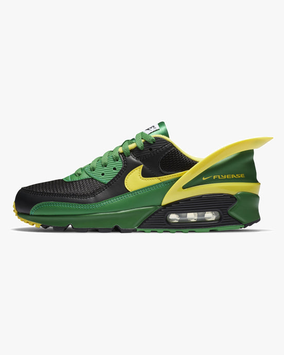 Nike Air Max 90 Flyease - Black / Apple Green / Yellow Strike UK 7.5 CZ427000175 194276559314 Nike Trainers