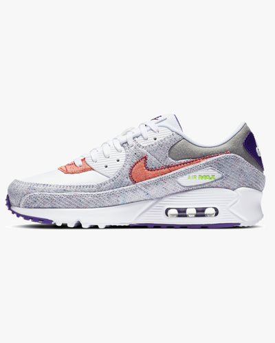 Nike Air Max 90 NRG 'Recycled Canvas' - White / Electric Green / Court Purple Nike Trainers