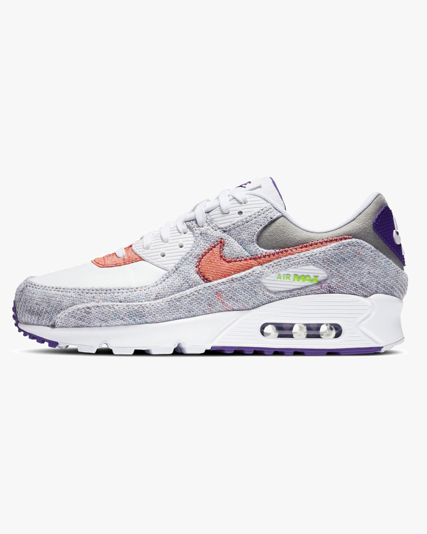 Nike Air Max 90 NRG 'Recycled Canvas' - White / Electric Green / Court Purple UK 6 CT16841006 Nike Trainers