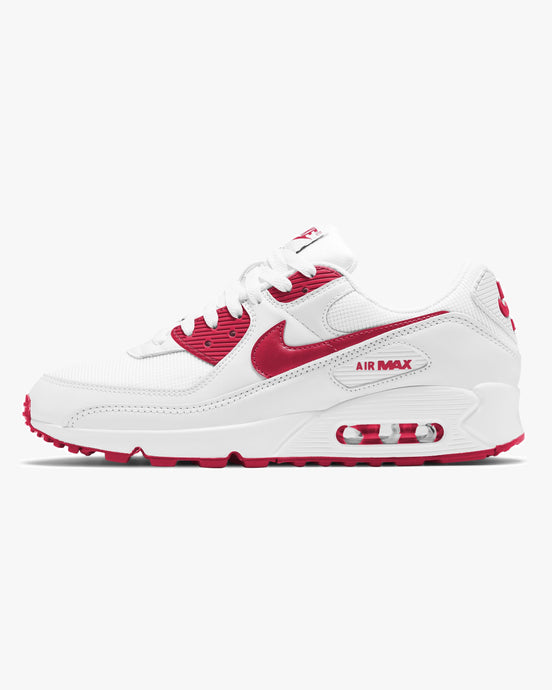 Nike Air Max 90 - White / Hyper Red / Black UK 7 CT10281017 194276557075 Nike Trainers