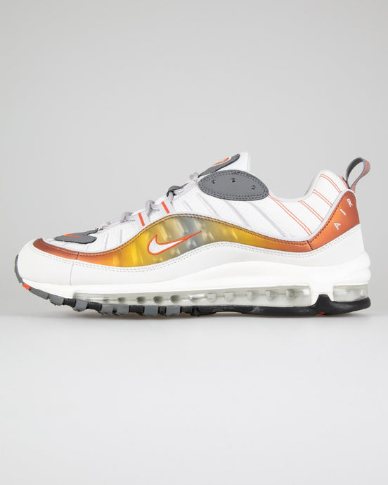 Nike Air Max 98 SE - Vast Grey / Team Orange / Summit White UK 7 CD01320027 193654135010 Nike Trainers