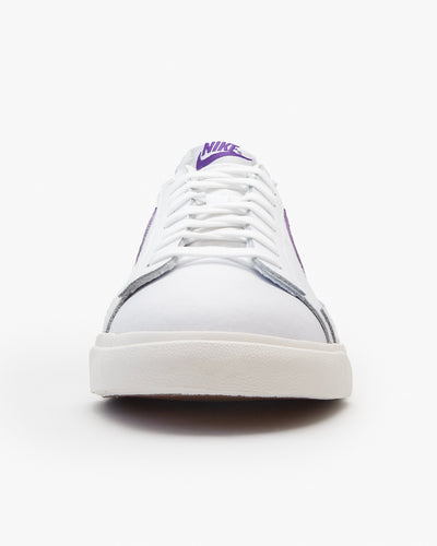 Nike Blazer Low Leather - White / Sail / Voltage Purple Nike Trainers