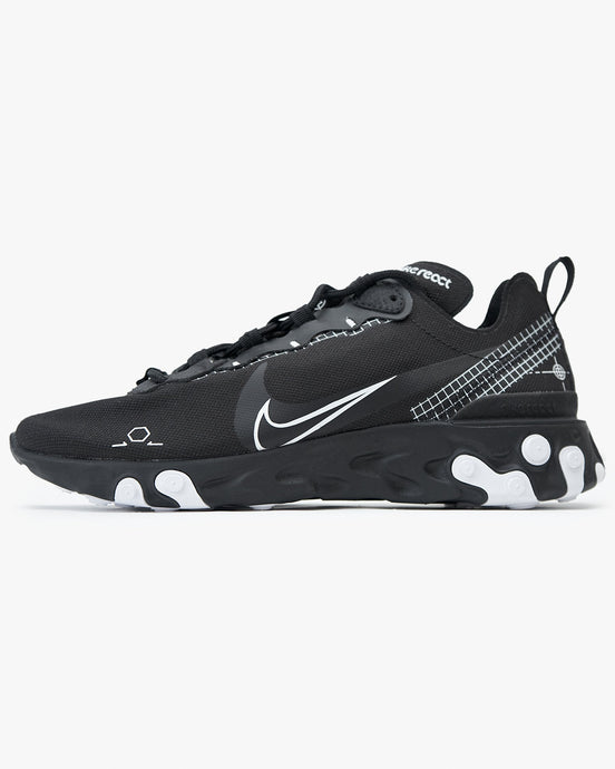 Nike React Element 55 - Black / White UK 7 CU30090017 Nike Trainers