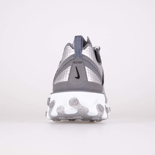 Nike React Element 55 Premium - Metallic Silver / Black Nike Trainers