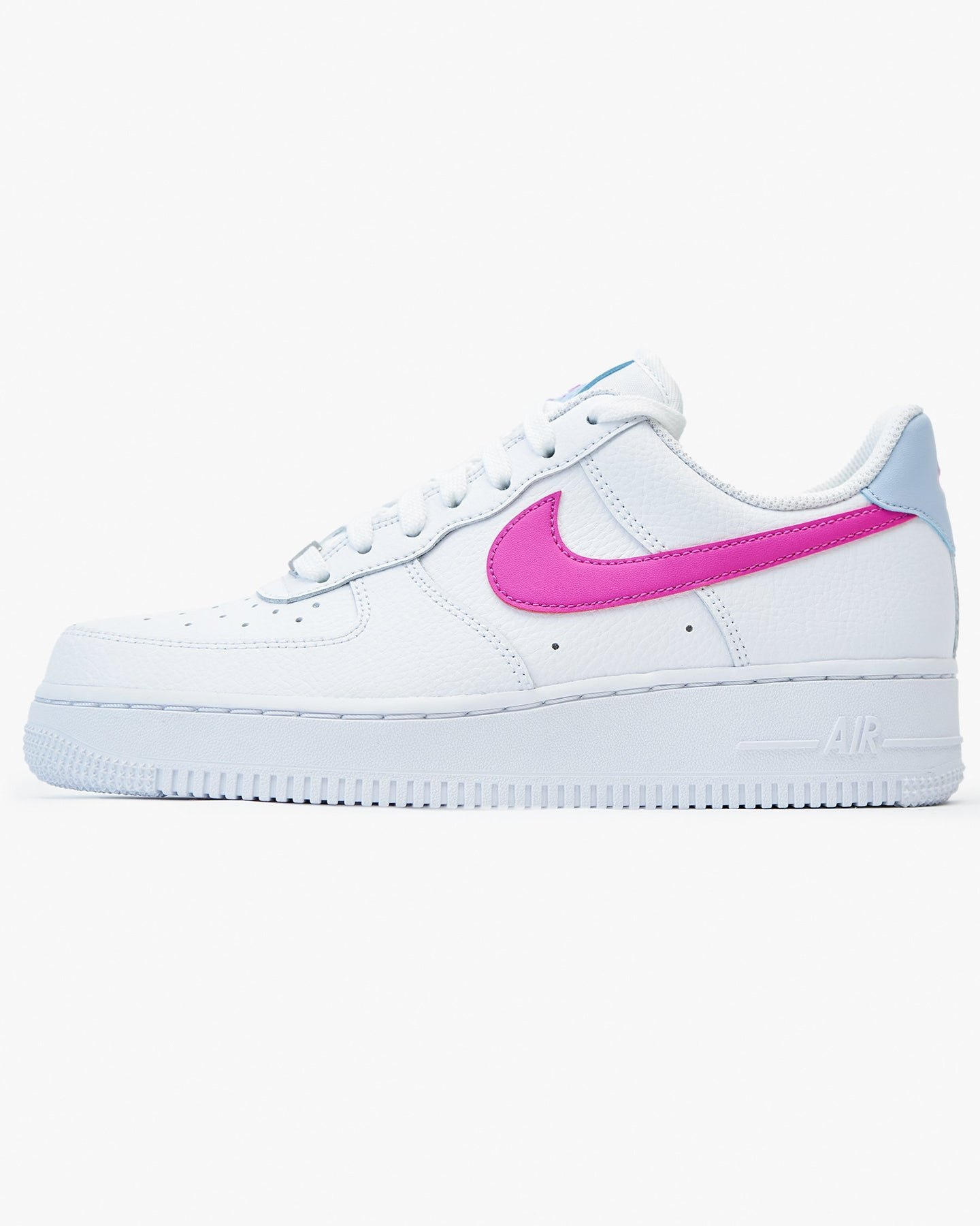 Nike Wmns Air Force 1 '07 - White / Hydrogen Blue / Fire Pink UK 3 CT43281013 Nike Trainers