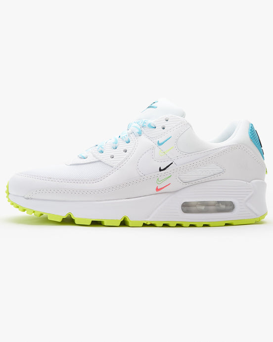 Nike Wmns Air Max 90 NS SE 'Worldwide Pack' - White / Blue Fury / Volt UK 3 CK70691003 194493897084 Nike Trainers