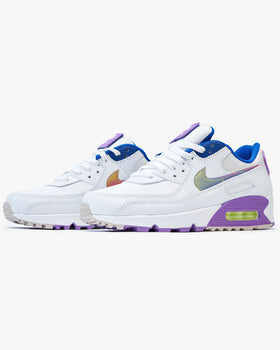 Nike Wmns Air Max 90 SE 'Easter' - White / Purple Nebula / Multi Nike Trainers