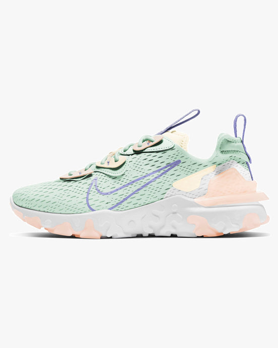 Nike Wmns React Vision - Barely Green / Purple Pulse UK 3 CI7523-3013 Nike Trainers