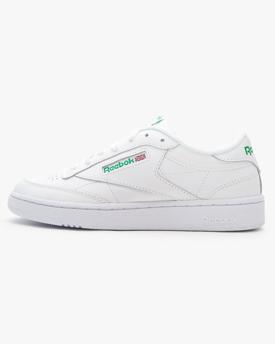 Reebok Classic Club C 85 - Intense White / Green UK 7 AR04567 4056561016659 Reebok Classic Trainers