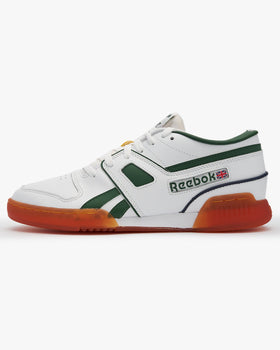 Reebok Classic Pro Workout Lo MU - White / Utility Green / Vector Navy UK 8 FW33868 4060517031948 Reebok Classic Trainers