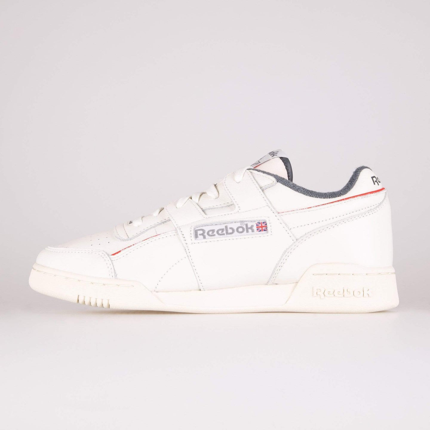 Reebok Classic Workout Plus MU - Chalk / Radiant Red / True Grey UK 7 EG64467 4062053539902 Reebok Classic Trainers