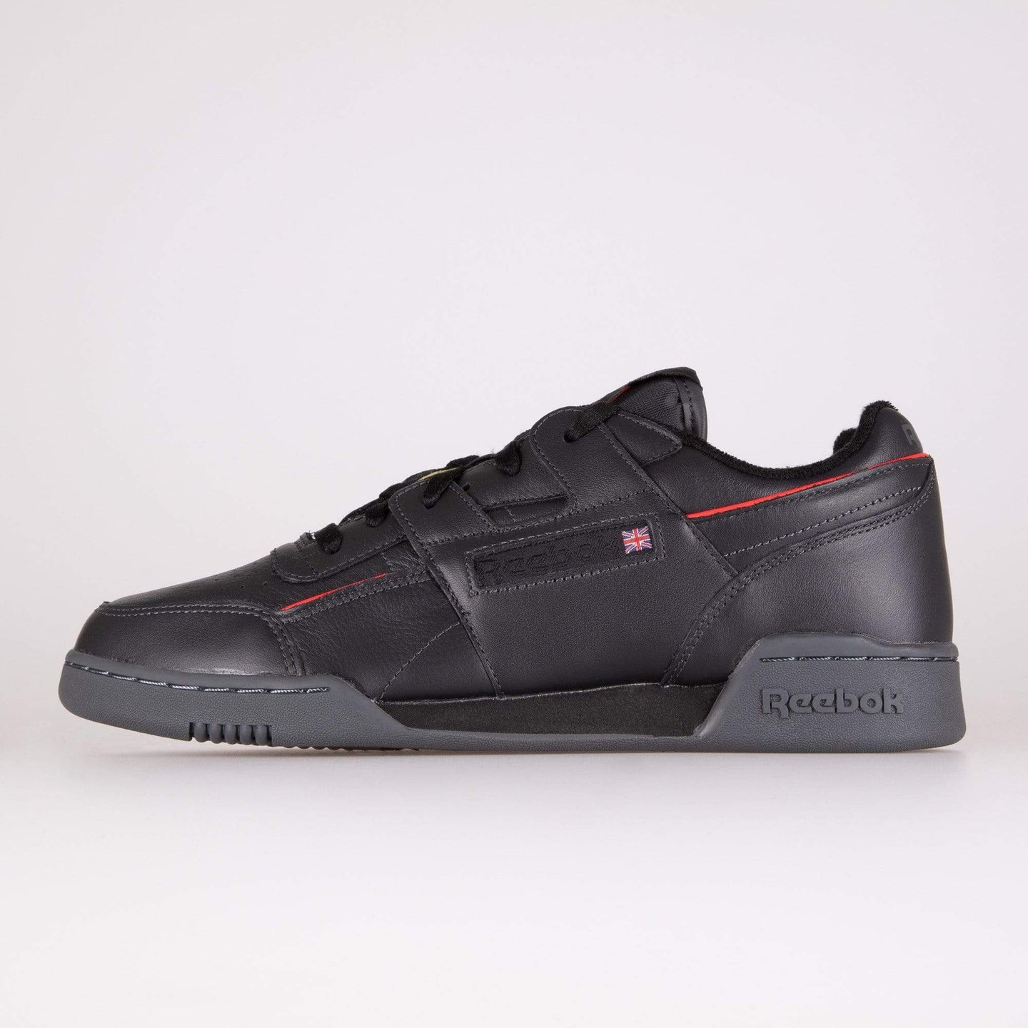 Reebok Classic Workout Plus MU - True Grey / Black / Radiant Red UK 7 EG64437 4062053543725 Reebok Classic Trainers