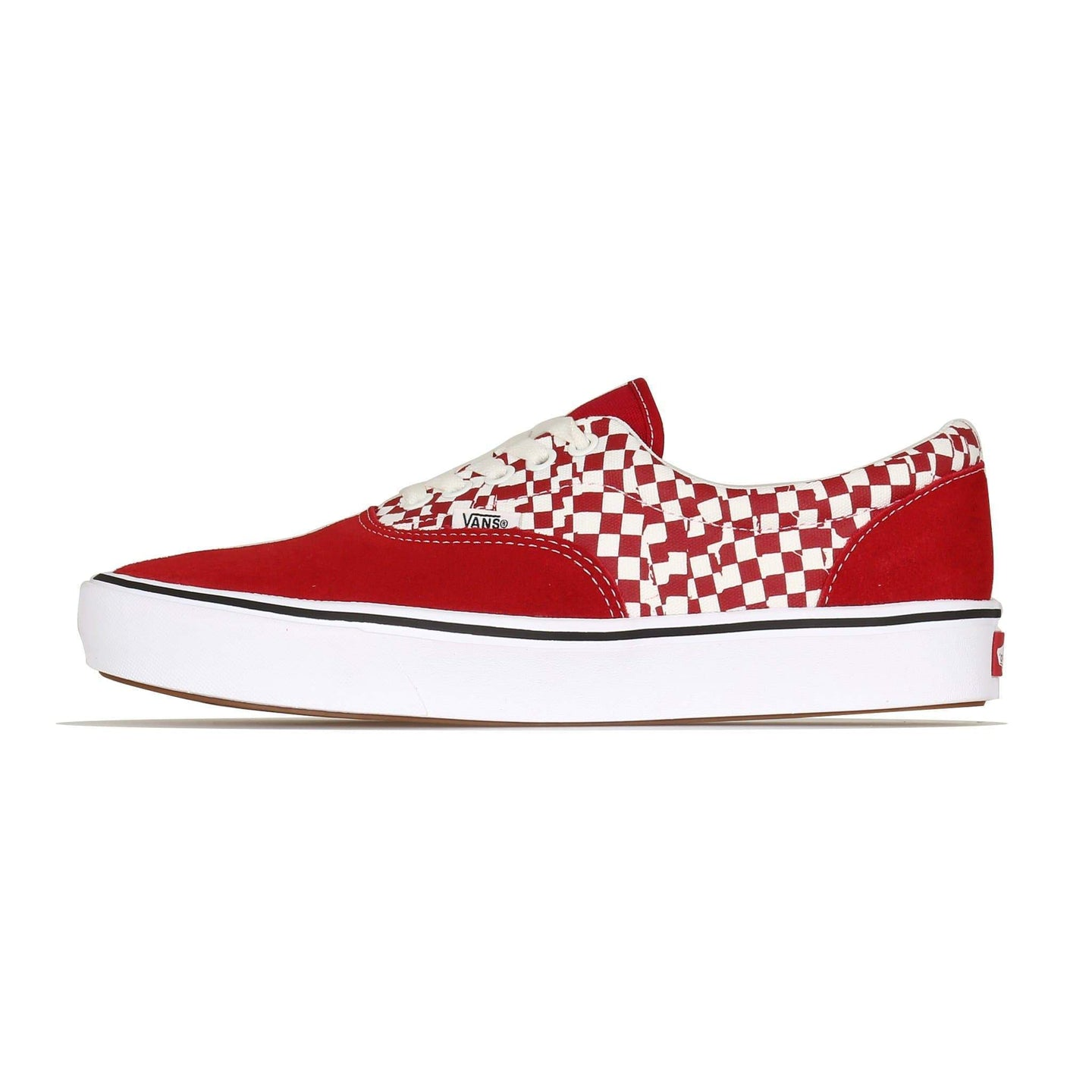 Vans Comfycush Era (Tear Check) - Racing Red / True White UK 8 VA3WM9V9Z18 193395047054 Vans Trainers