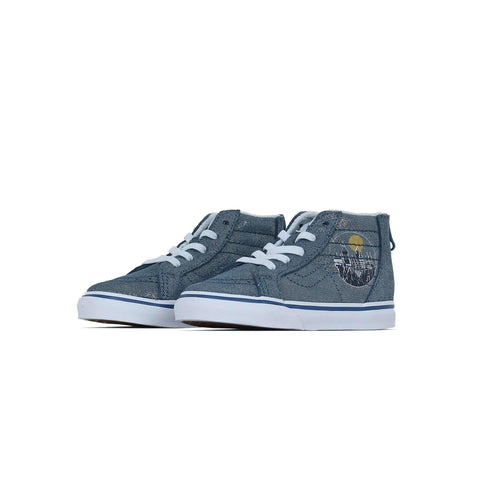 Vans x Harry Potter Toddlers SK8-Hi Zip - Hogwarts / Metallic Vans Trainers