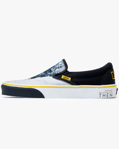 Vans x National Geographic Classic Slip-On - Black / Then-Now Glacier UK 7 VN0A4U38WT37 Vans Trainers