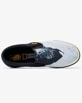 Vans x National Geographic Classic Slip-On - Black / Then-Now Glacier Vans Trainers