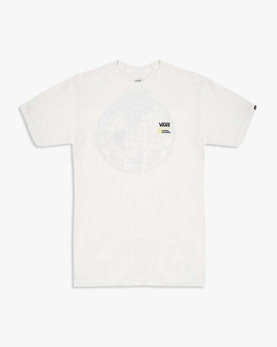 Vans x National Geographic Globe Tee - White S VN0A4MSHWHTS Vans T Shirts