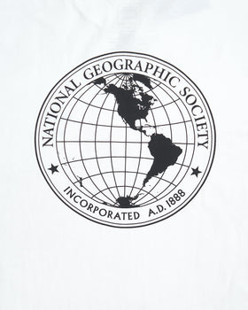 Vans x National Geographic Globe Tee - White Vans T Shirts