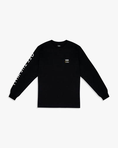 Vans x National Geographic L/S Globe Tee - Black S VN0A4MSGBLKS Vans T Shirts