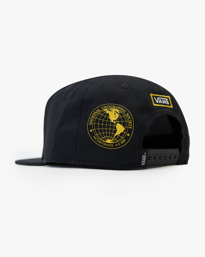 Vans x National Geographic Snapback Hat - Black VN0A4MP6BLK Vans Hats
