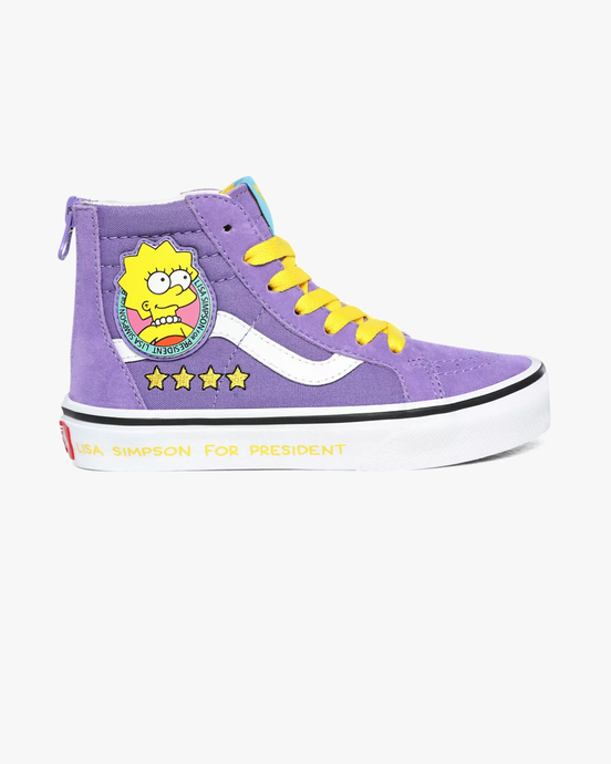 Vans x The Simpsons Kids SK8-Hi Zip - Lisa 4 Prez C10 VN0A4BUX17G1C10 Vans Trainers