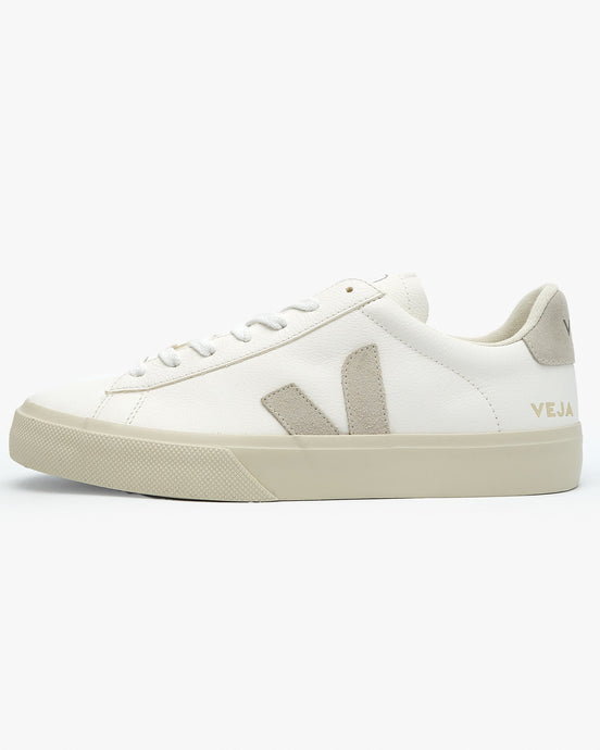 Veja Campo Chromefree Leather Sneakers - Extra White / Natural Suede UK 7 CP052429B7 3611820007918 Veja Trainers
